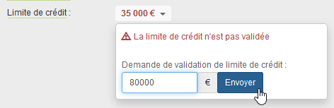 Validation Limite de Crédit